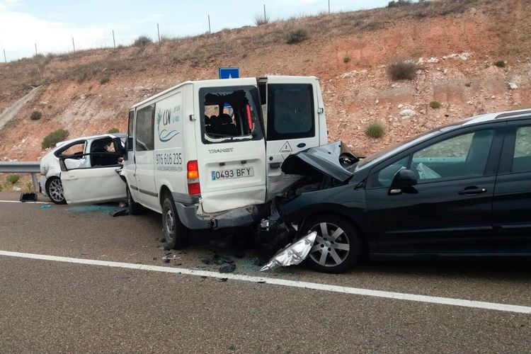 Accidente ocurrido en Fuentes de Ebro