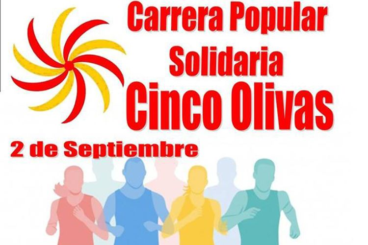 Cartel carrera solidaria Cinco Olivas 2017