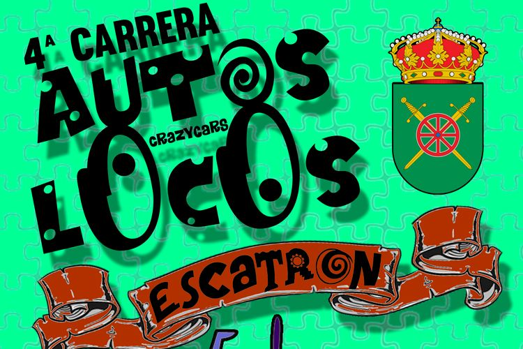 Cartel autos locos Escatron