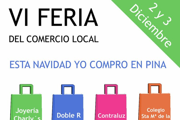 Cartel feria comercio local Pina 2017